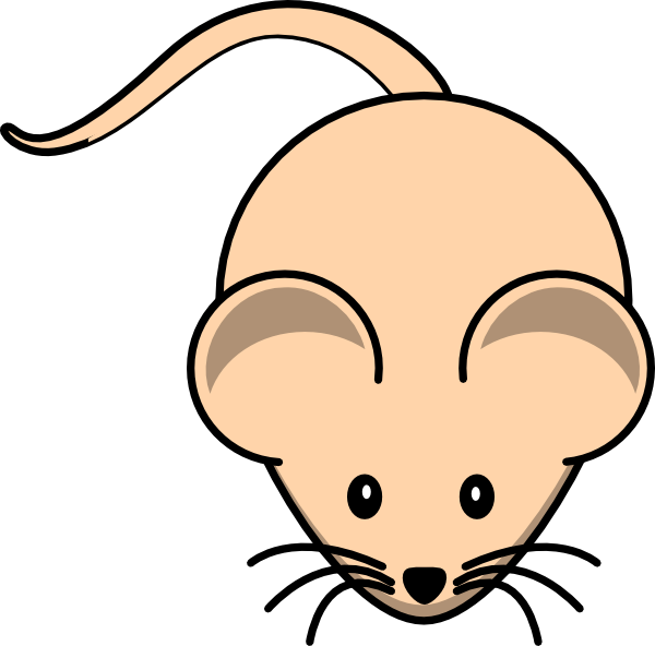 Simple Cartoon Mouse SVG Clip arts