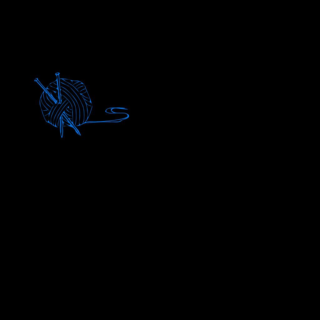 Yarn Ball Blue SVG Clip arts
