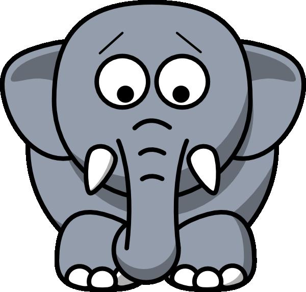 Cartoon Elephant SVG Clip arts