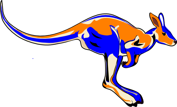 Blue Kangaroo svg