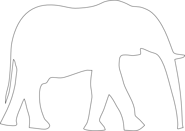 Elephant 2 SVG Clip arts