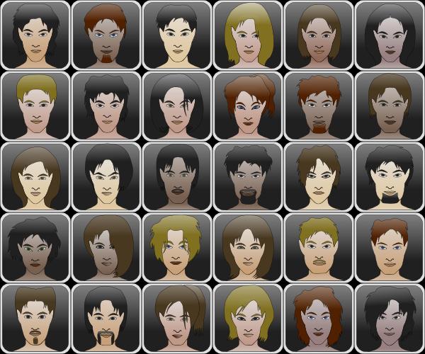 Human Portrait SVG Clip arts