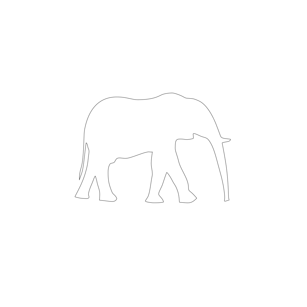 Cartoon Elephant 2 svg