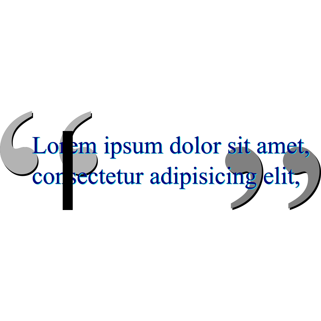 Double Quote svg