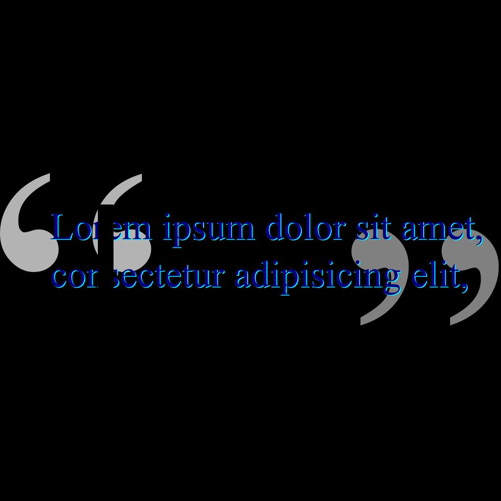 Double Quote SVG Clip arts