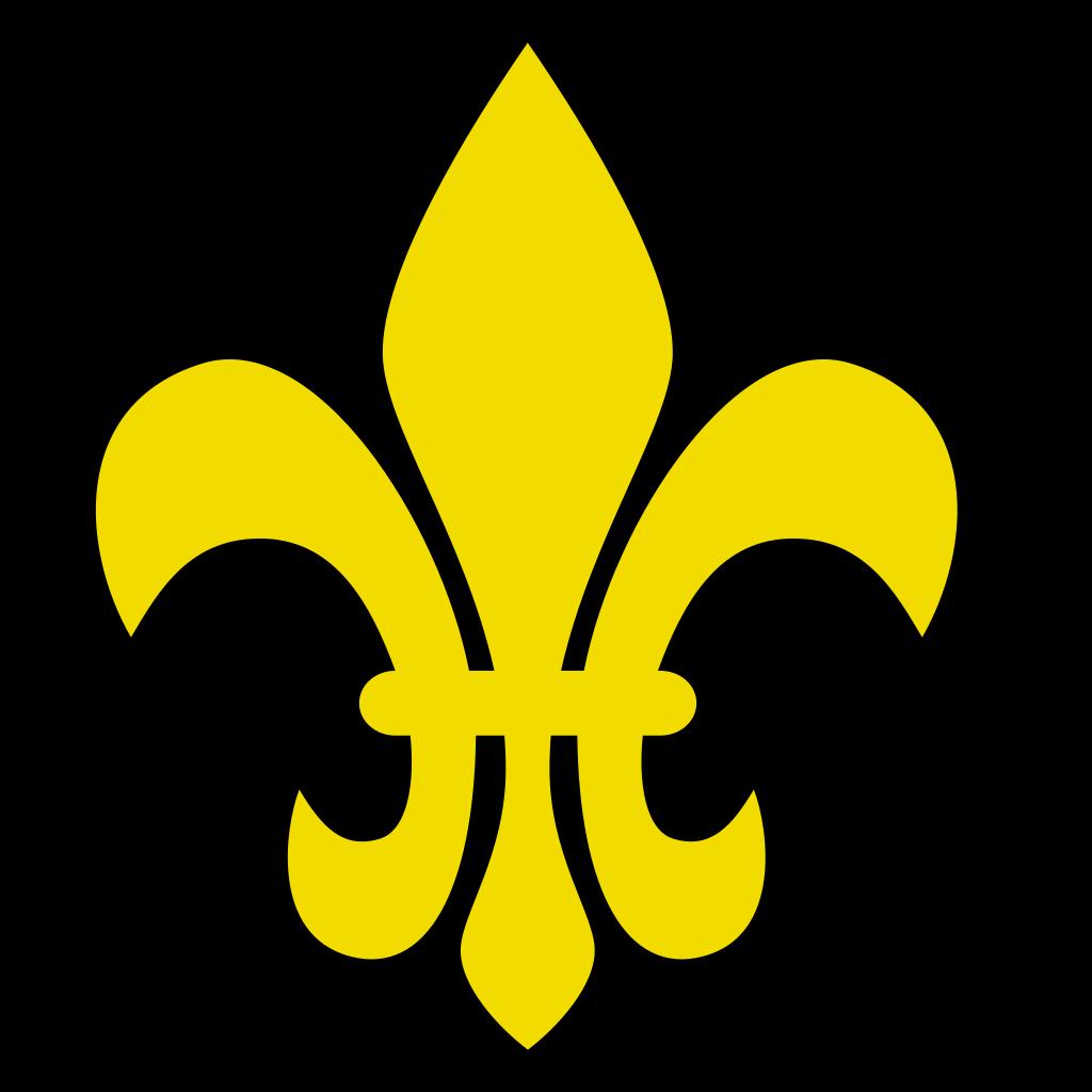 Brown Fleur De Lis SVG Clip arts