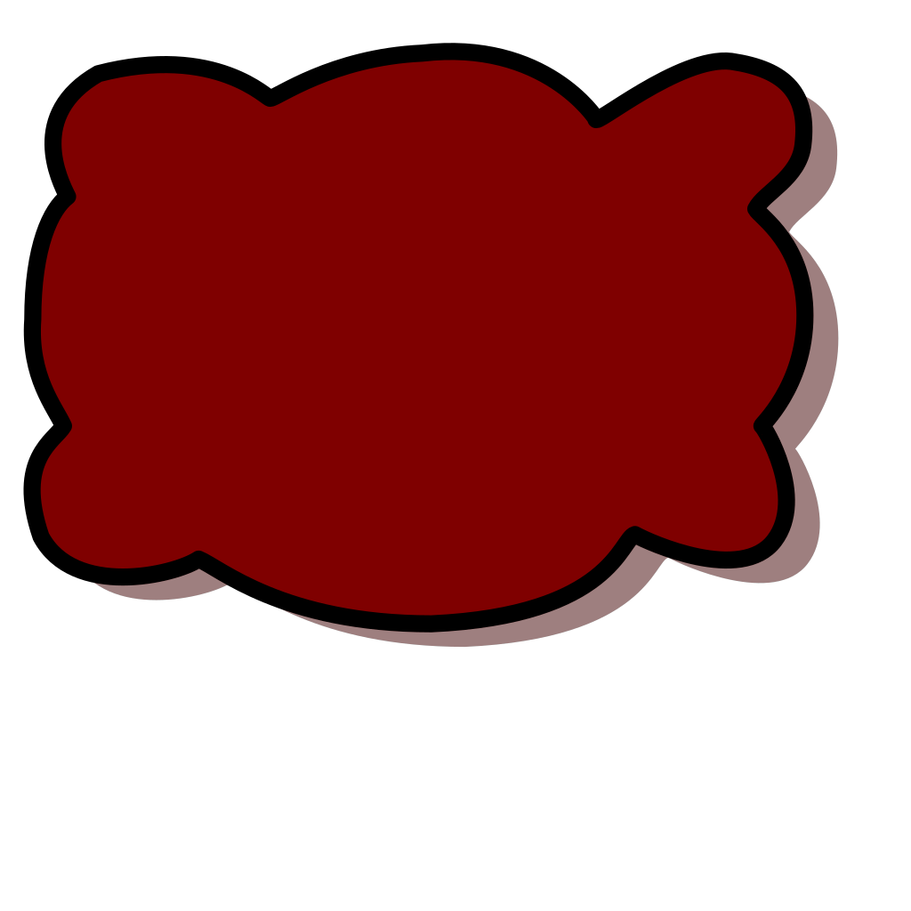Brown Cloud SVG Clip arts