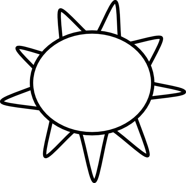 Sun Outline SVG Clip arts