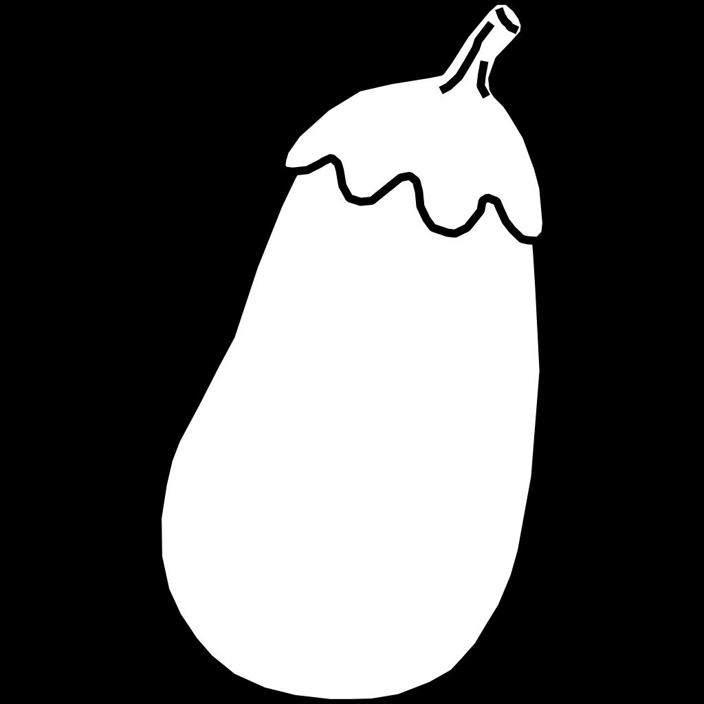 Eggplant Line Art SVG Clip arts