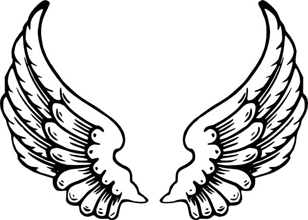 Angel Wings SVG Clip arts