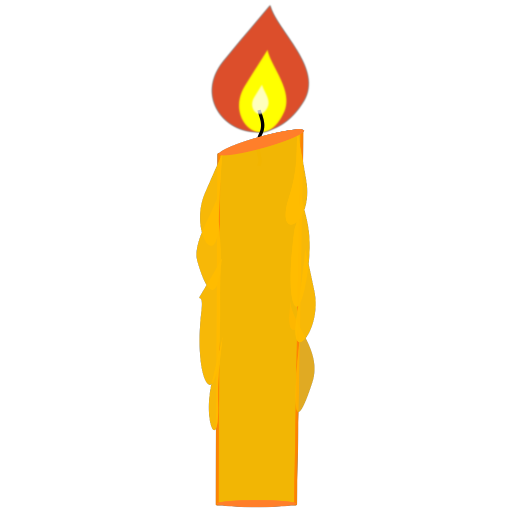 Blue Candle SVG Clip arts