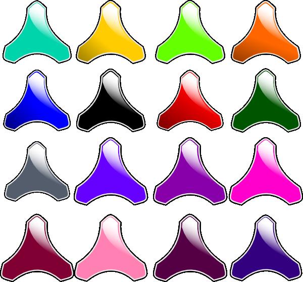 Gloss Buttons SVG Clip arts