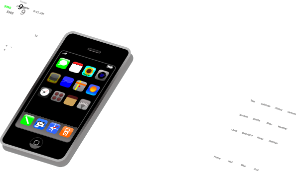 Treo Smartphone SVG Clip arts