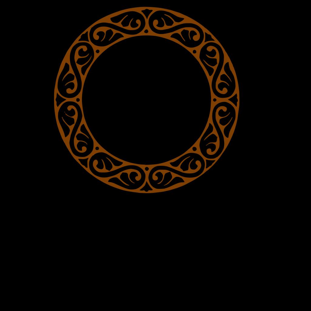 Brown Round Frame SVG Clip arts