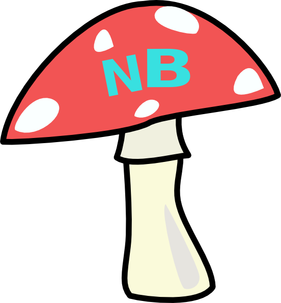 Red Top Mushroom Brown SVG Clip arts