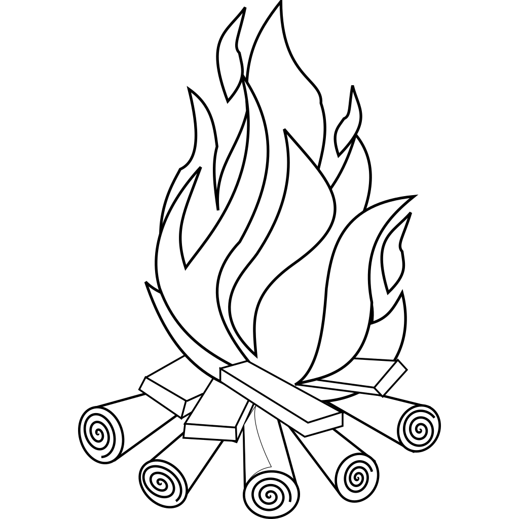 Fire Line Art svg