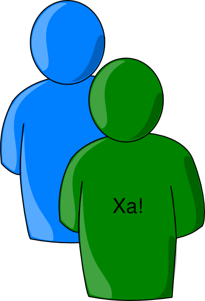 Multiple Users Green Blue - 2 SVG Clip arts