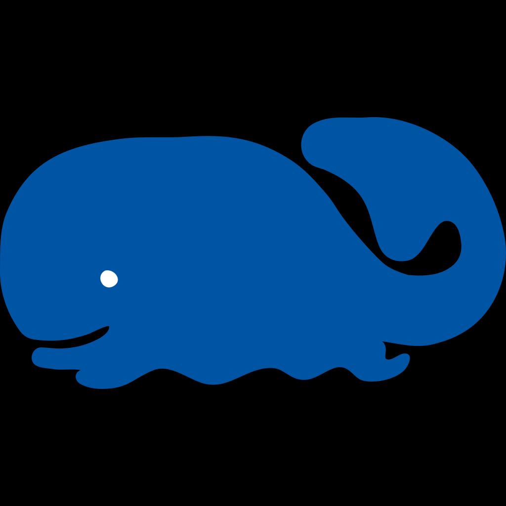 Whale Icon SVG Clip arts