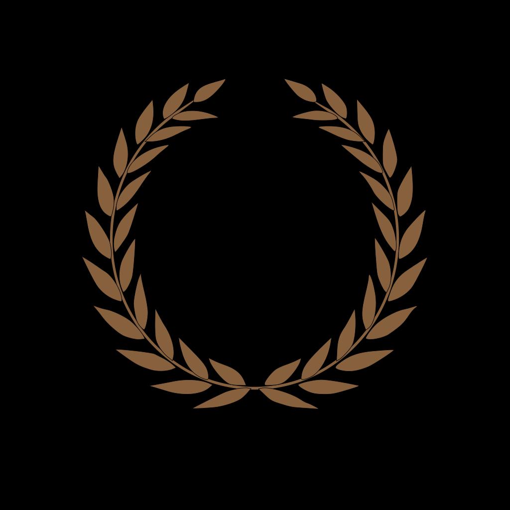 Brown Laurel SVG Clip arts