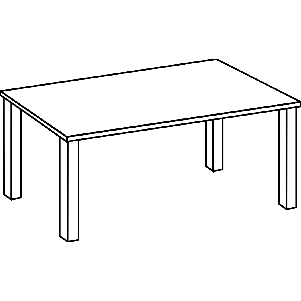 Table Line Art svg