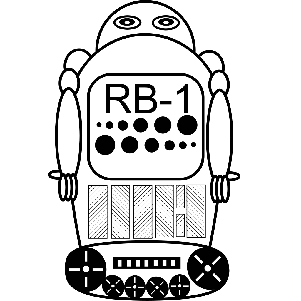 Robot Outline SVG Clip arts