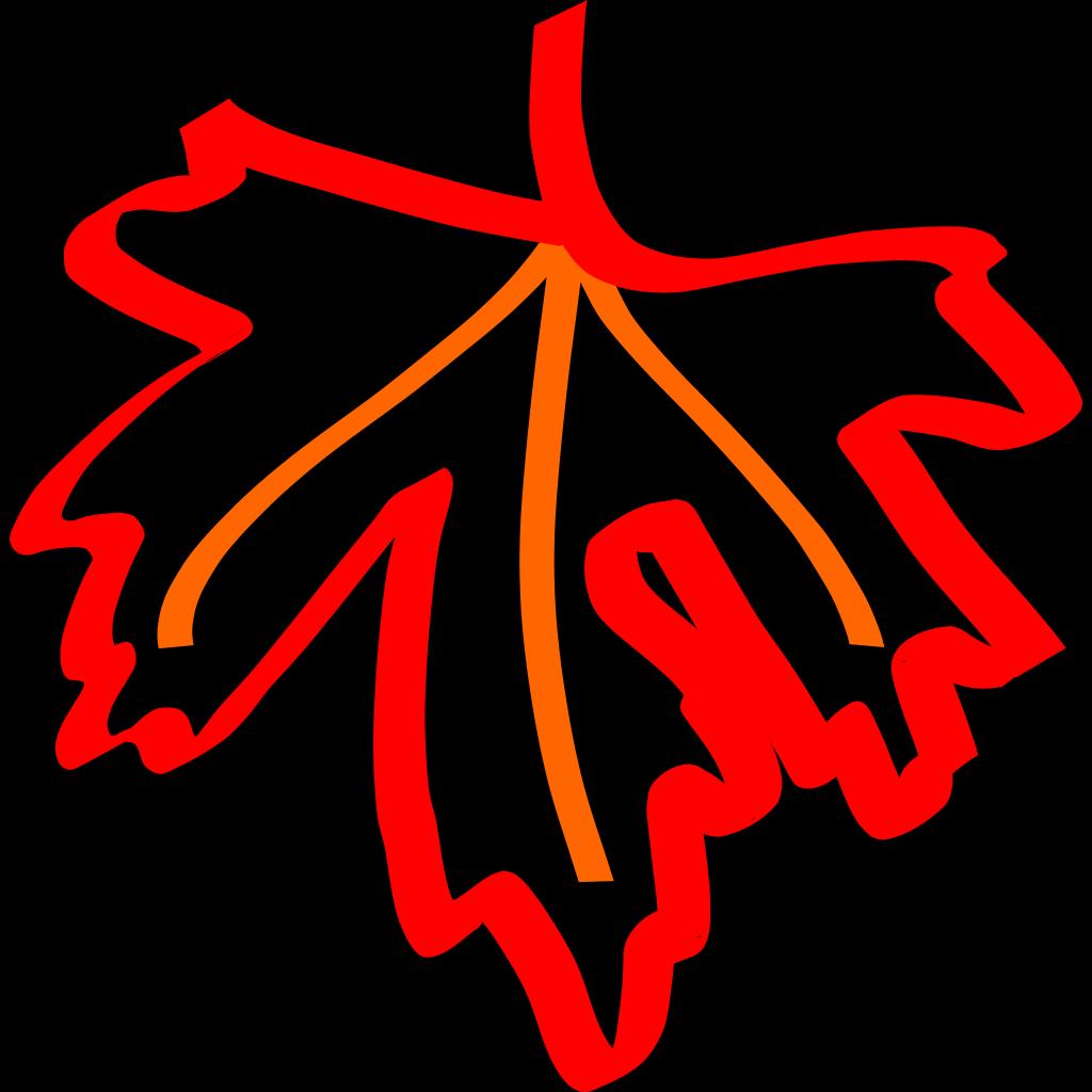 Leaf Outline SVG Clip arts