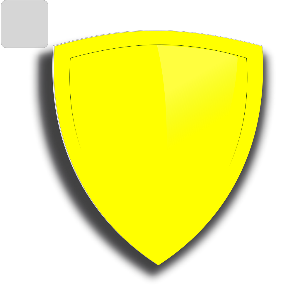 Blue And Yellow Shield SVG Clip arts