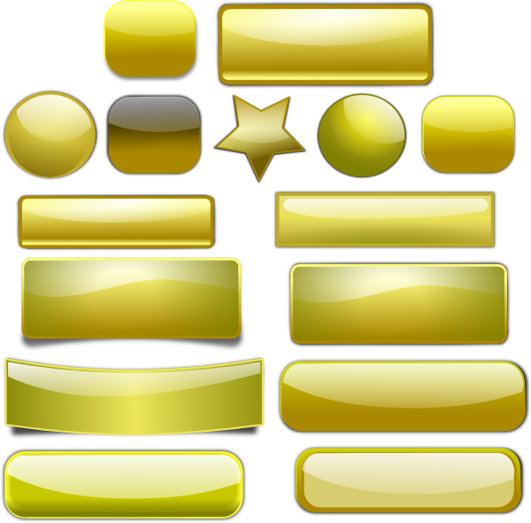 Golden Buttons SVG Clip arts