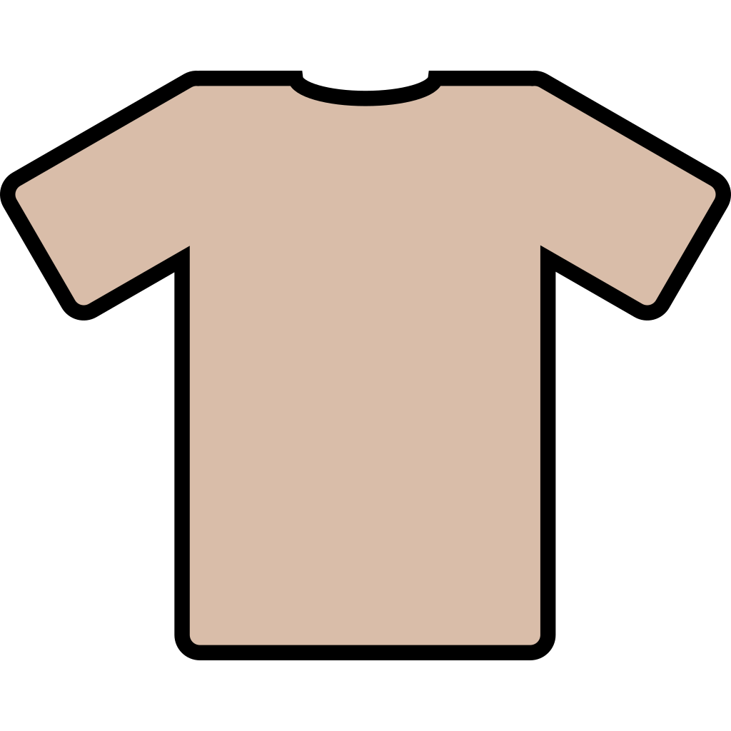 Brown Tee SVG Clip arts