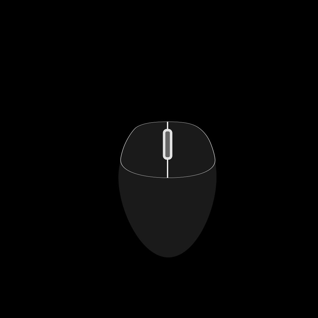 Black Mouse SVG Clip arts