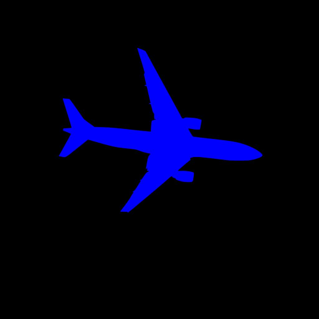 Blue Plane SVG Clip arts