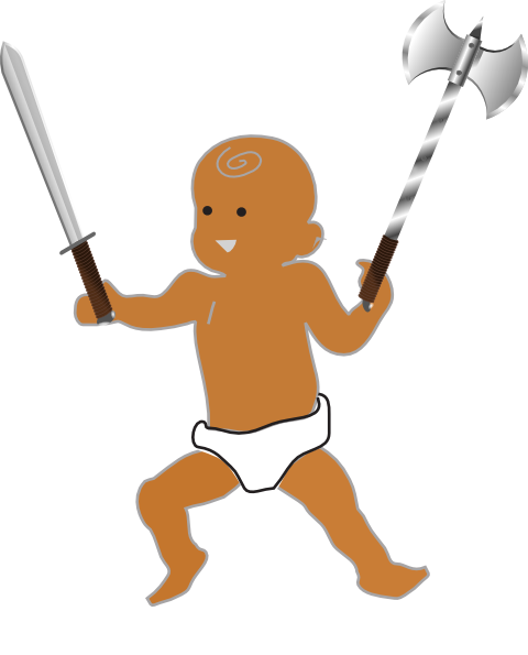 Infant Warrior SVG Clip arts