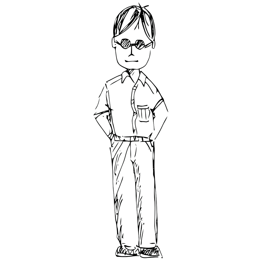 Standing Person SVG Clip arts
