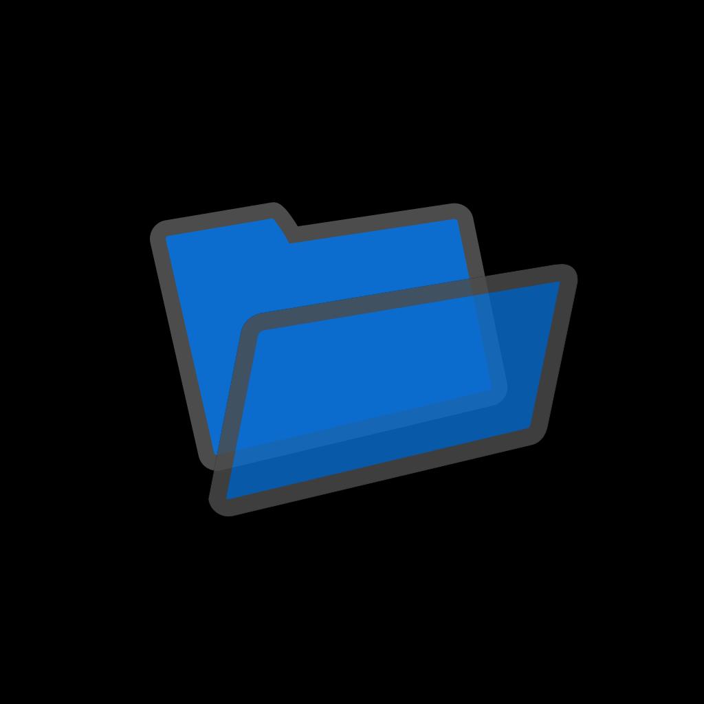 Blue File SVG Clip arts