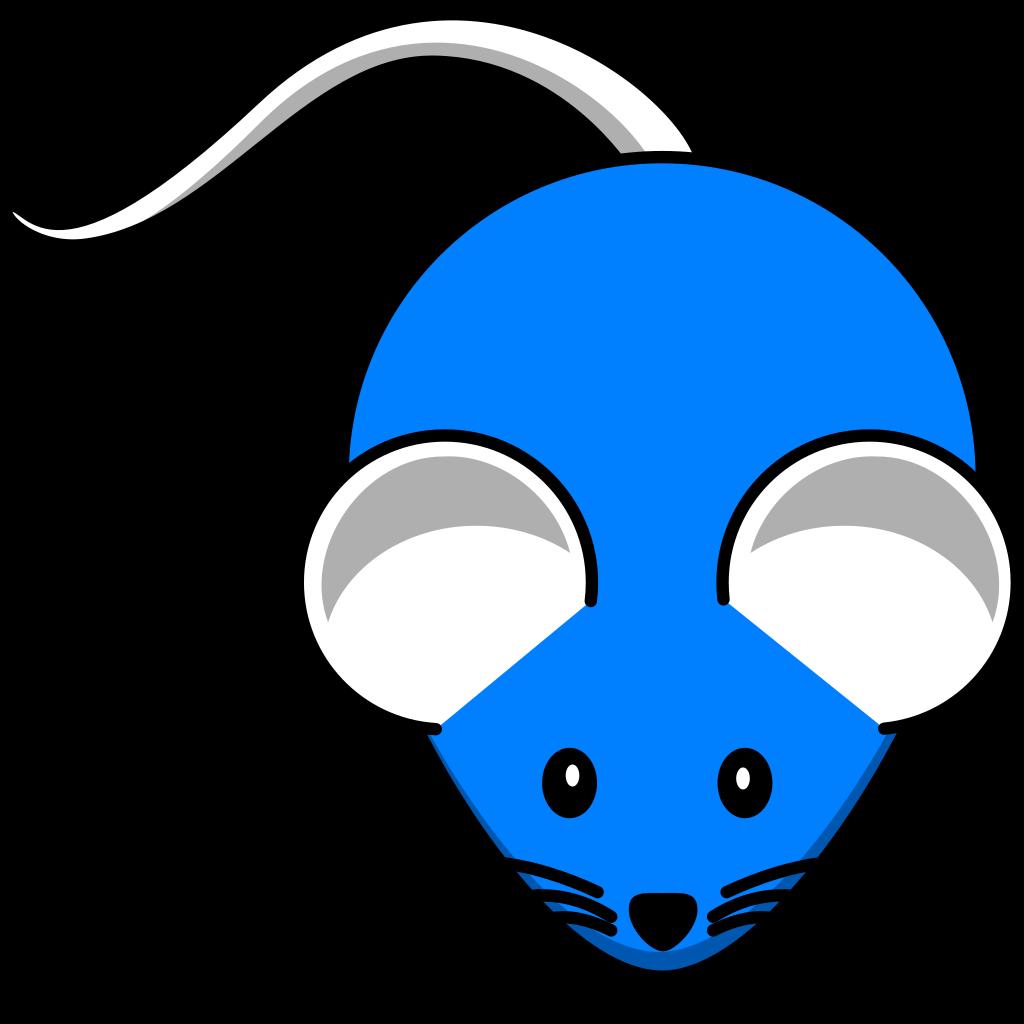 Blue Mouse SVG Clip arts