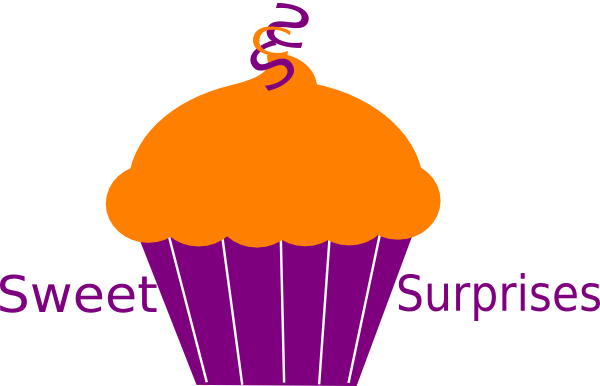 Cupcake Brown Orange svg