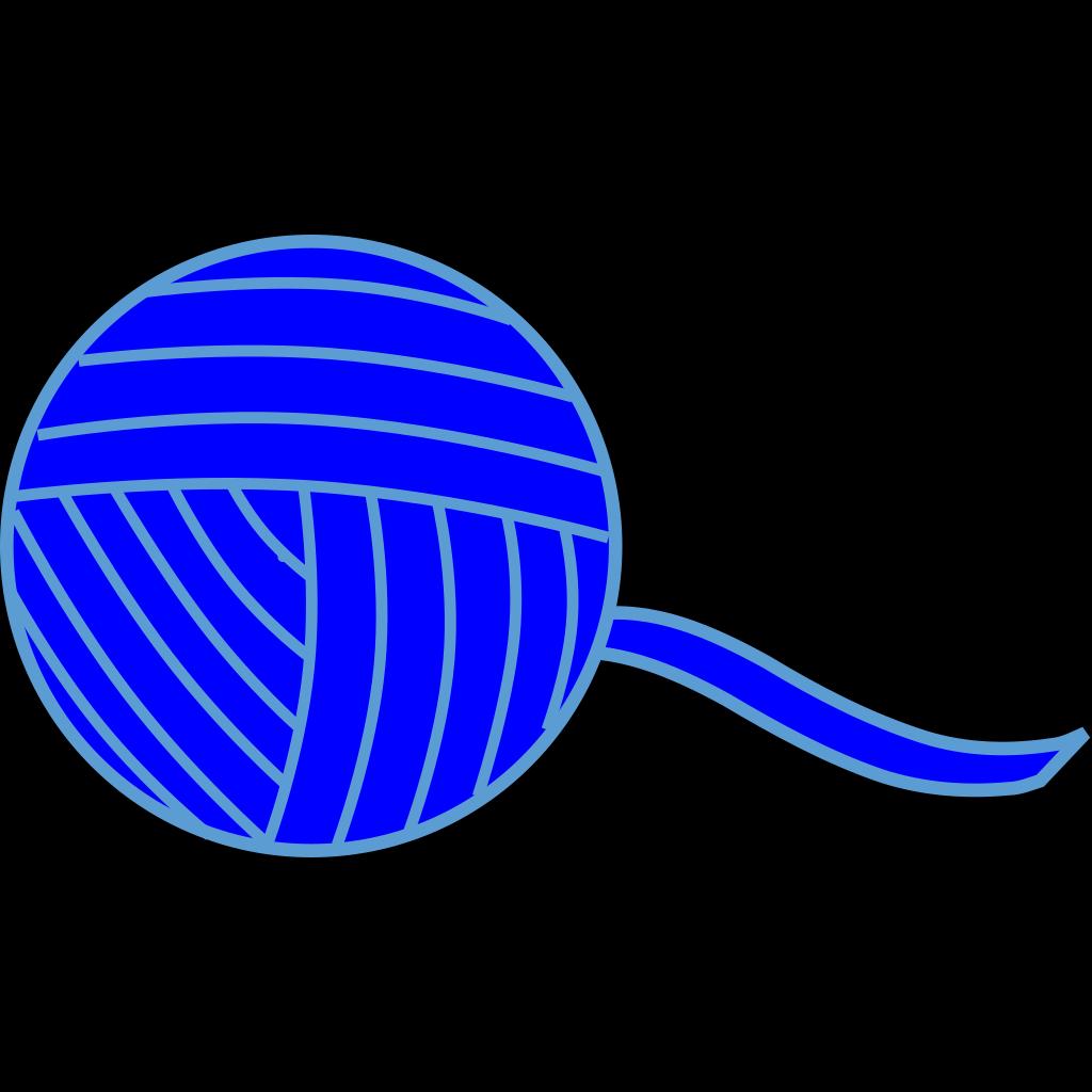 Blue Ball Of Yarn SVG Clip arts