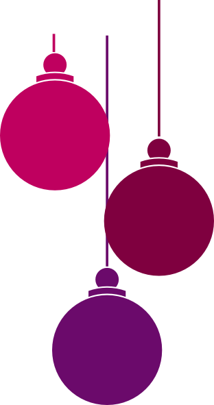 Christmas Ornaments SVG Clip arts