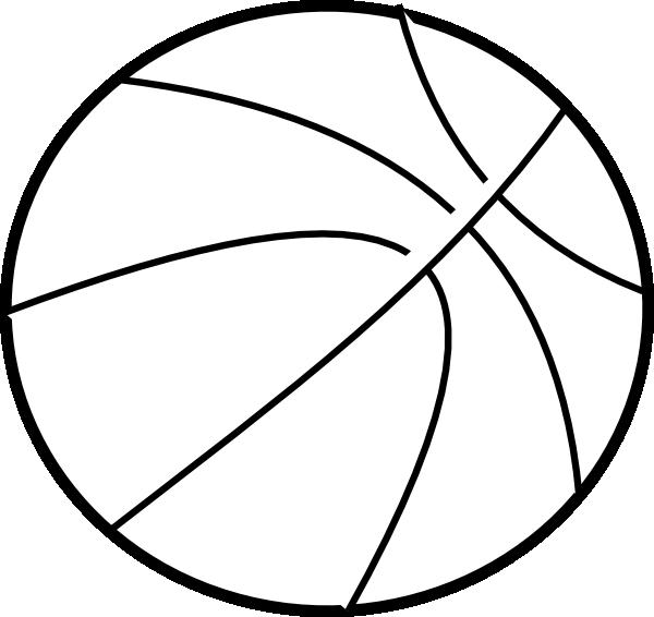 Basketball Outline SVG Clip arts