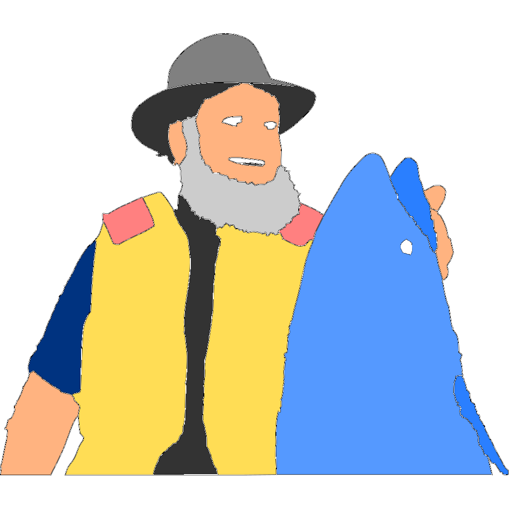Big Fish Candat Animal SVG Clip arts