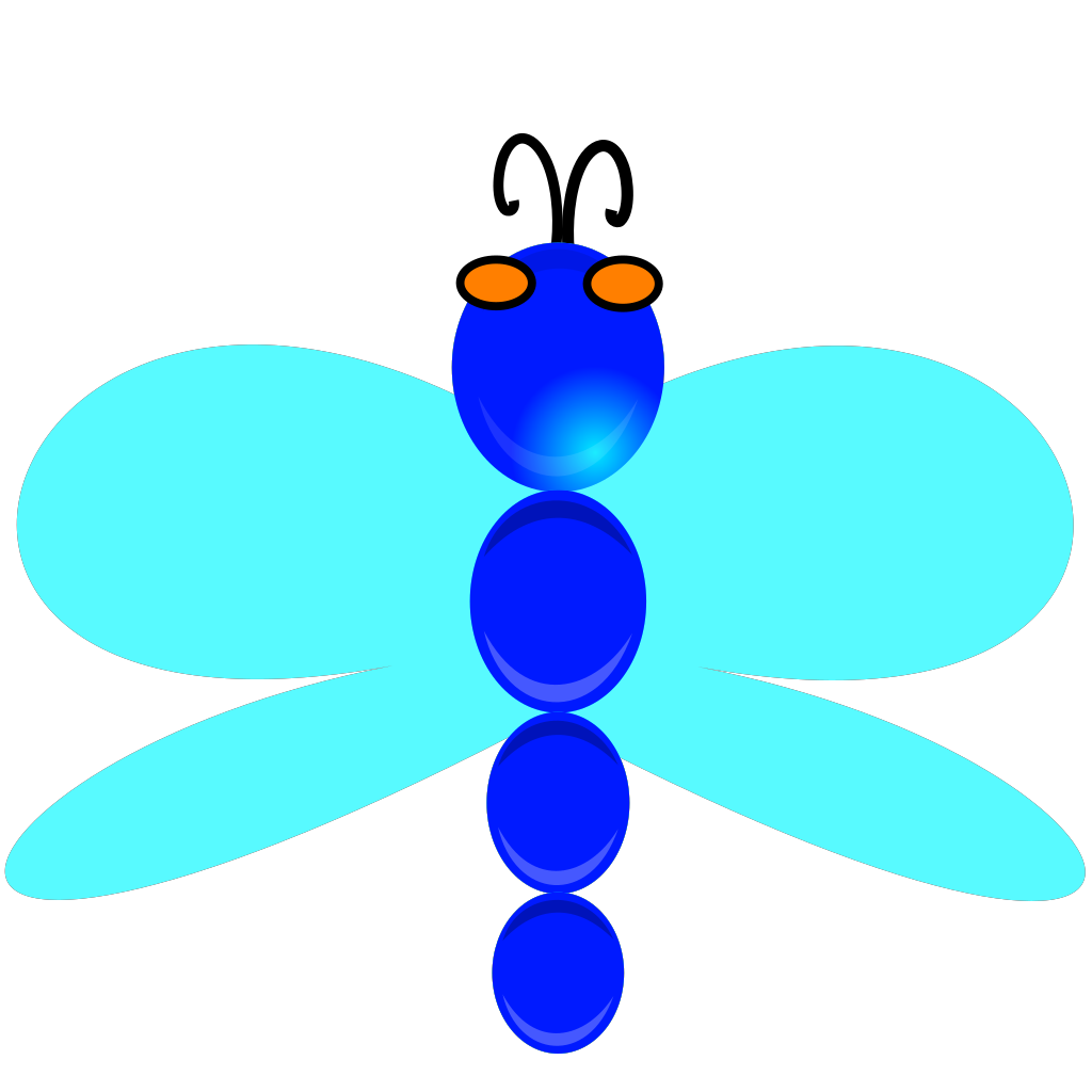 Dragon Fly With Eyes SVG Clip arts