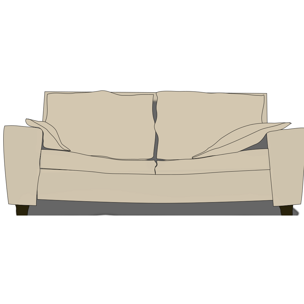 Couch SVG Clip arts