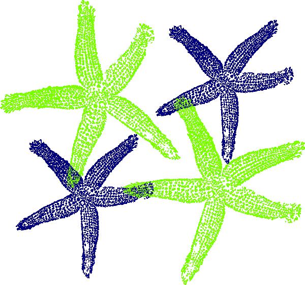Starfish Prints 4 SVG Clip arts