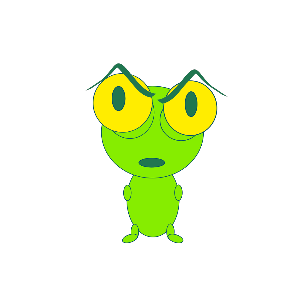 Upset Frog Thing SVG Clip arts
