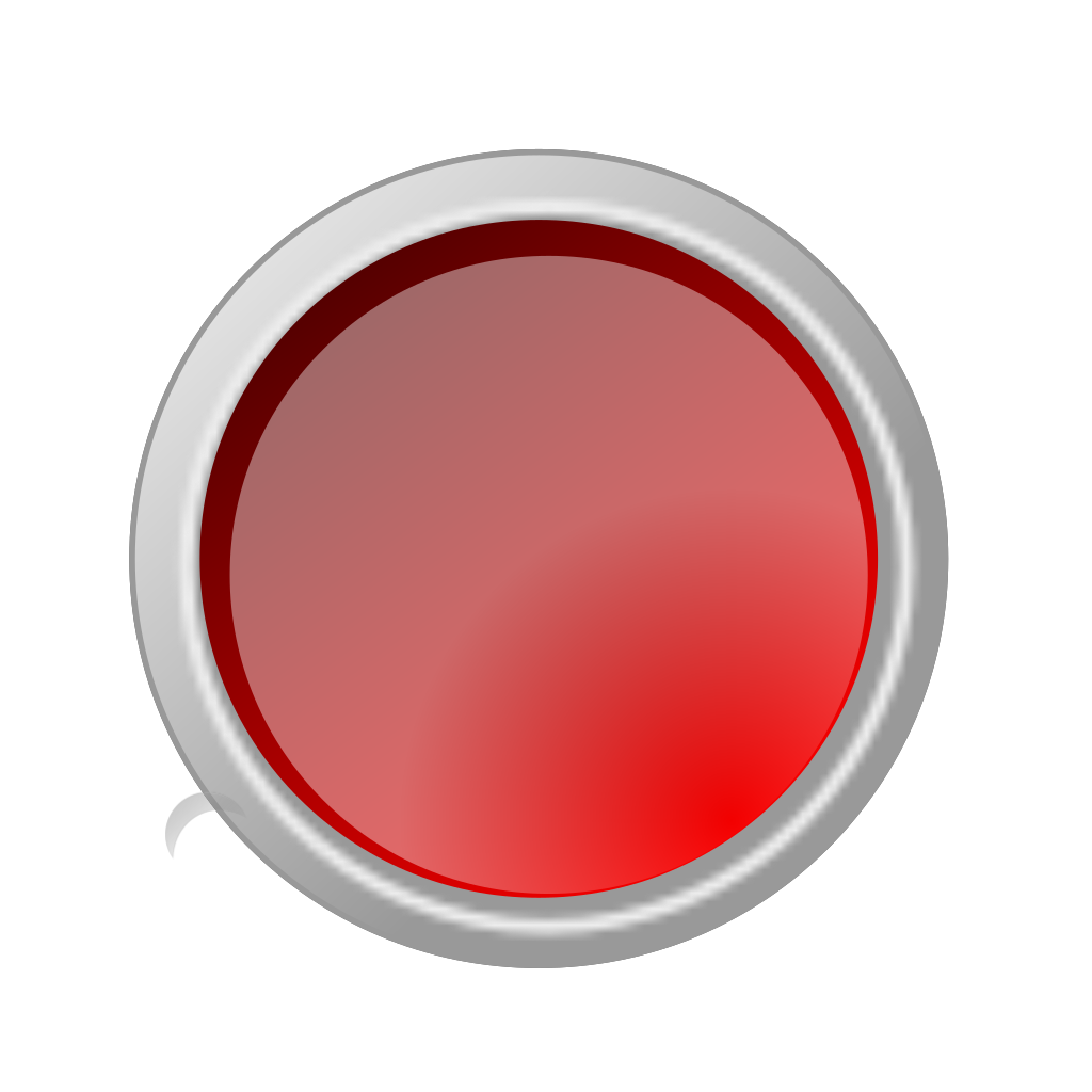 Glossy Red Button svg