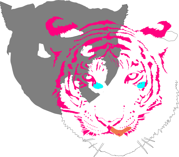 Bengal Tiger (white) SVG Clip arts