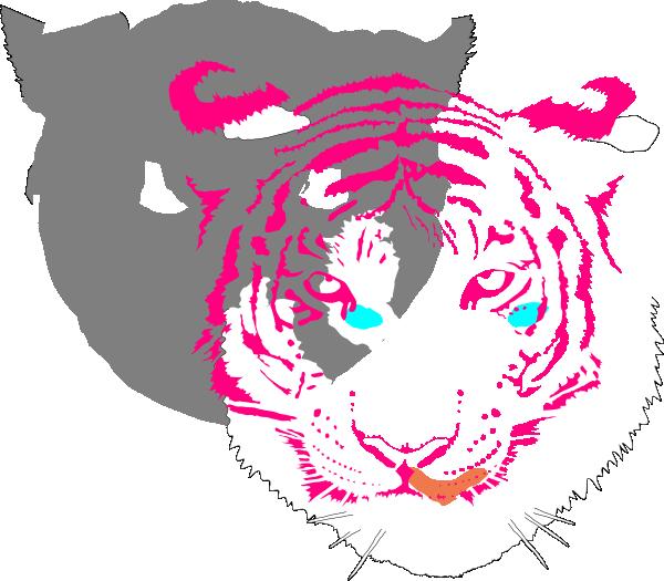 Bengal Tiger (white) SVG Clip arts