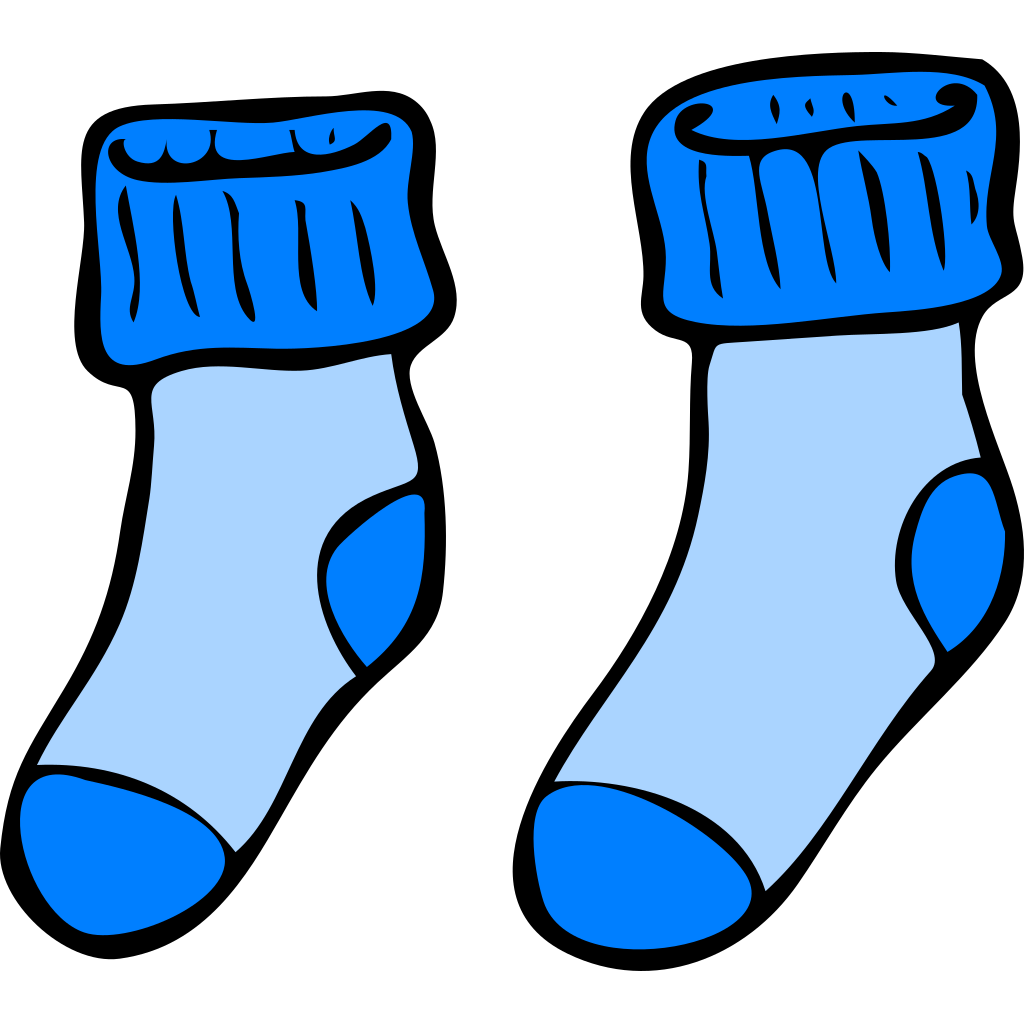 Blue Socks SVG Clip arts