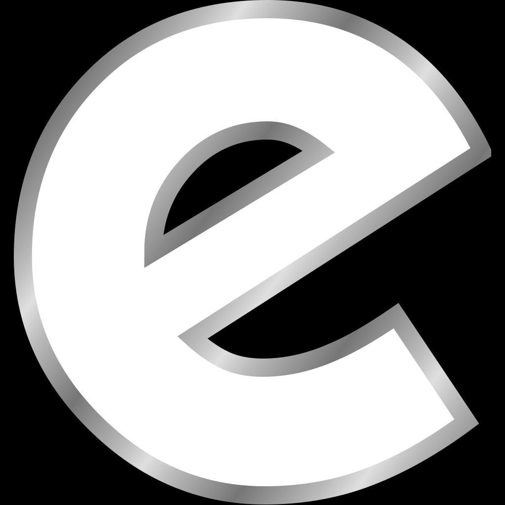 Cyrillic Letter E SVG Clip arts