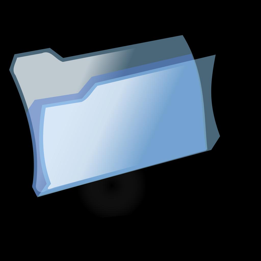 Blue Folder SVG Clip arts
